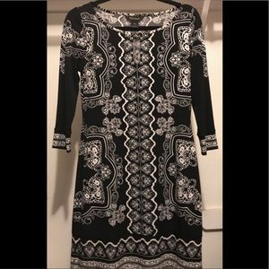 Black and white market dress - xs